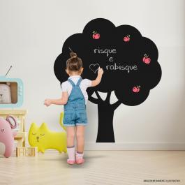 Adesivo Quadro Negro Árvore Adesivo Fosco 100x120cm Preto