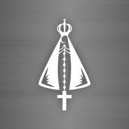 Adesivo Veículo: Nossa Senhora Aparecida Adesivo de Recorte 17x30cm