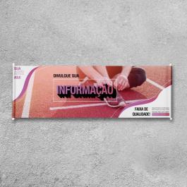 Faixa Personalizada Impressa Lona  4x0