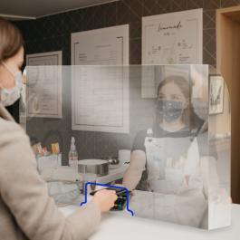 Barreira de Proteção Balcão Acrílico 3mm  Cristal