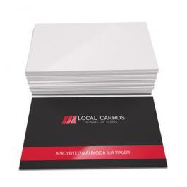 Cartão de Visita 4x0 (milheiro) Couchê 250g 9x5cm 4x0