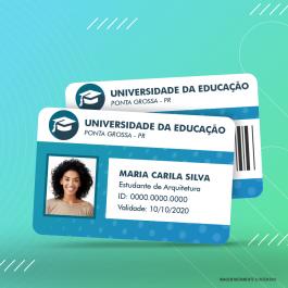 Carteirinha Impressa Cartão PVC 5,5x8,5cm