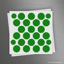 CARTELA ADESIVOS REFLETIVOS CÍRCULOS Adesivo Refletivo Prismático 12x12cm