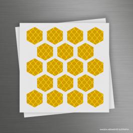 CARTELA ADESIVOS REFLETIVOS HEXÁGONO Adesivo Refletivo Prismático 12x12cm