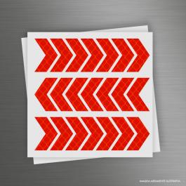 CARTELA ADESIVOS REFLETIVOS FLECHA Adesivo Refletivo Prismático 12x12cm