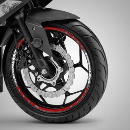 Adesivo Roda Moto: CB Twister Adesivo de Recorte e Refletivo 46cm ø