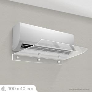 Defletor Ar Condicionado Split - 100 x 40 cm (18.000 BTU) Acrílico Cristal 3mm 100x40cm