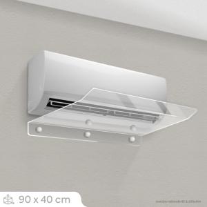 Defletor Ar Condicionado Split - 90 x 40 cm (7.000 A 13.000 BTU) Acrílico Cristal 3mm 90x40cm