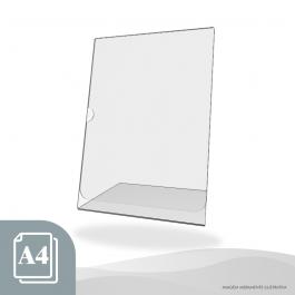 DISPLAY DE MESA VERTICAL - PAPEL A4 Acrílico Cristal 2mm 21,5x30cm