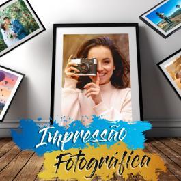 Impressão de Fotografias Grandes Formatos Papel Fotográfico 200g  4x0