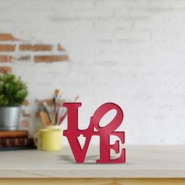 Letreiro LOVE PVC 10mm 15x15cm  Pintura Automotiva