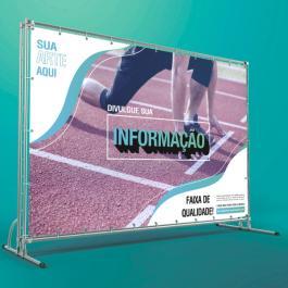 Lona Impressa Personalizada com Ilhós 20/20cm 340g/440g  4x0