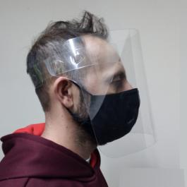 Máscara de Proteção PETG 20x30cm Cristal 0,50mm