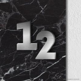 Números Residenciais Letra Caixa Chapa Galvanizada com Pintura, Chapa Inox Escovado 3mm Dois tamanhos