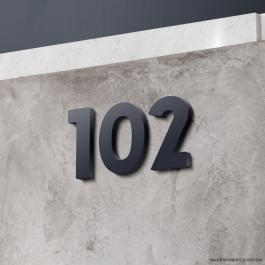 Números Residenciais PVC PVC 2cm 14x20 cm Preto, Branco  Pintura Automotiva Fita dupla face