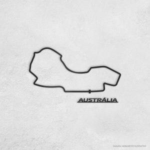 PISTA DE CORRIDA INTERNACIONAL: AUSTRÁLIA Acrílico 3mm     Fita Dupla Face