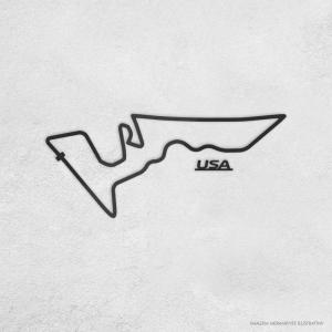 PISTA DE CORRIDA INTERNACIONAL: USA Acrílico 3mm     Fita Dupla Face
