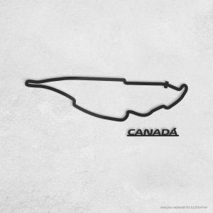 PISTA DE CORRIDA INTERNACIONAL: CANADÁ Acrílico 3mm     Fita Dupla Face