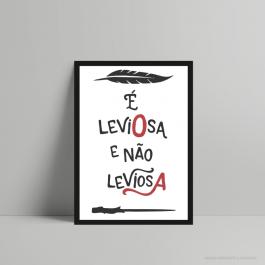 QUADRO DECORATIVO GEEK É LEVIOSA PS 3mm