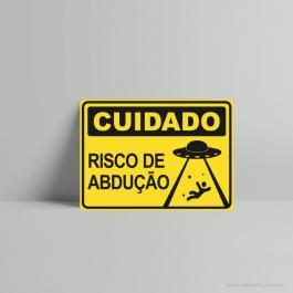 QUADRO DECORATIVO GEEK RISCO DE ABDUÇÃO PS 3mm
