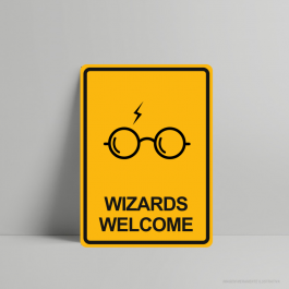 QUADRO DECORATIVO GEEK WIZARDS WELCOME PS 3mm