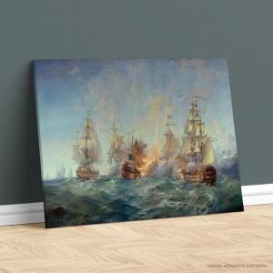 Quadro Canvas - NÁUFRAGO Tecido Canvas Impresso Três Tamanhos   Estrutura em Madeira
