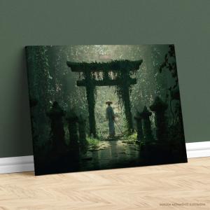 Quadro Canvas - PORTAL SECRETO Tecido Canvas Impresso Três Tamanhos   Estrutura em Madeira