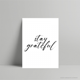 QUADRO DECORATIVO STAY GRATEFUL PS 3mm 21x29cm    Fita Dupla face