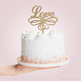 TOPO DE BOLO LOVE  12x16cm