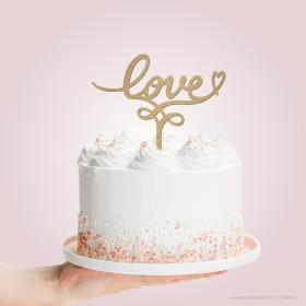 TOPO DE BOLO LOVE <3  15x16cm