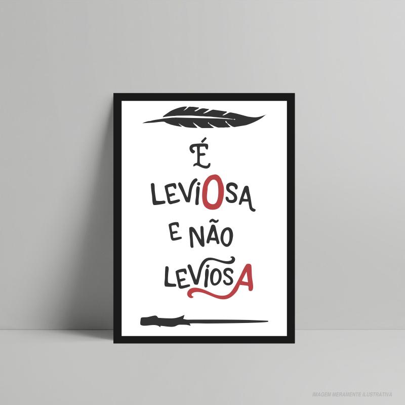 QUADRO DECORATIVO GEEK É LEVIOSA